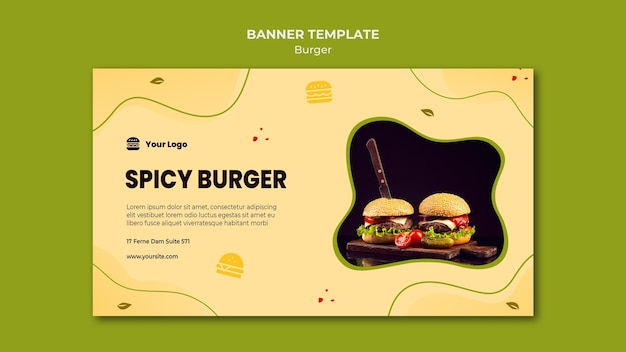 Burger banner vorlage
