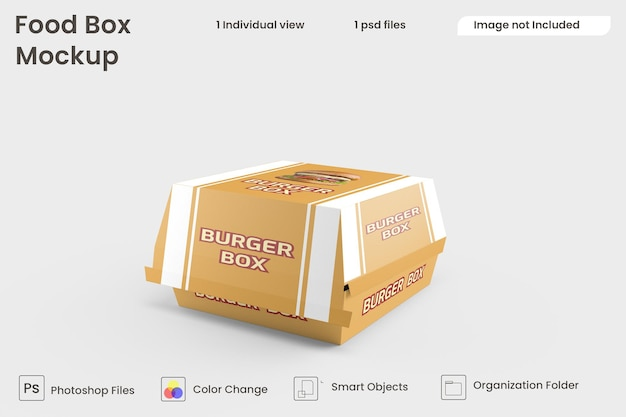 Burger-box-modell premium psd