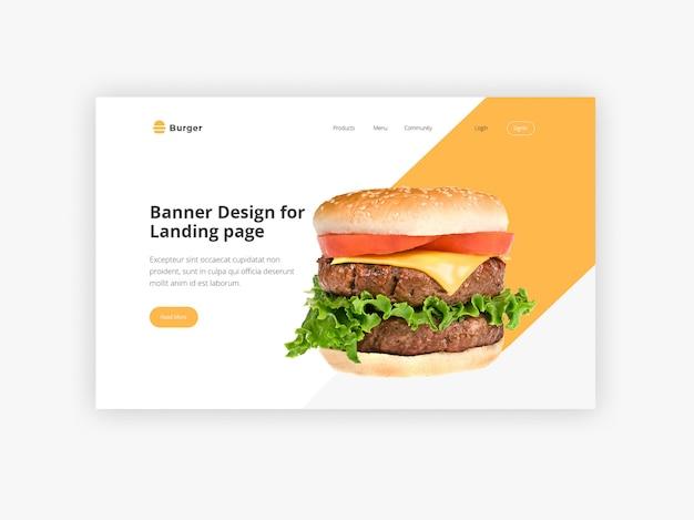 Burger held banner vorlage