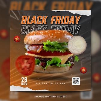 Burger instagram und social media post vorlage