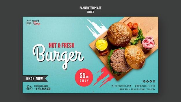 Burger konzept banner vorlage