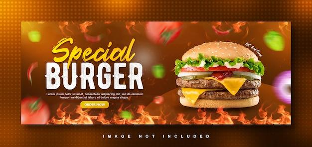 Burger-menü facebook-cover-design-vorlage