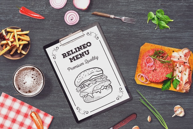 Burger-menü-modell