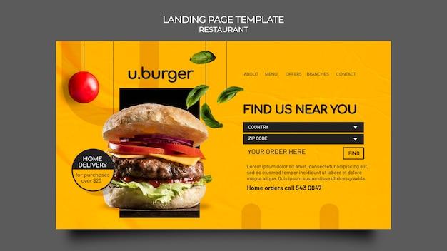 Burger restaurant web vorlage