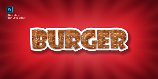 Burger-text-effekt
