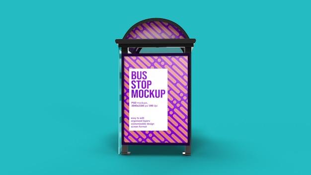 Bushaltestelle mockup design isoliert
