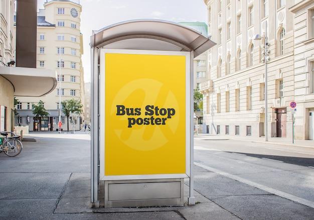 Bushaltestelle-plakat-modell
