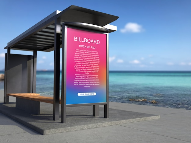 Bushaltestelle werbung plakat modell