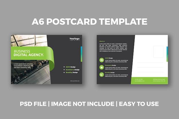 Business agency postkarte design-vorlage