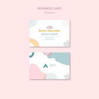 Business-analyst-visitenkartenvorlage