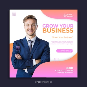 Business-banner oder quadratische flyer-vorlage für social-media-post-design