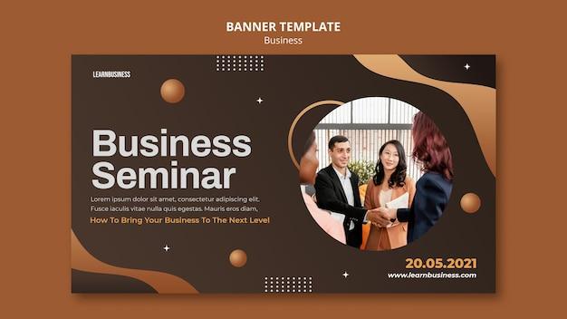 Business-banner-vorlage mit foto