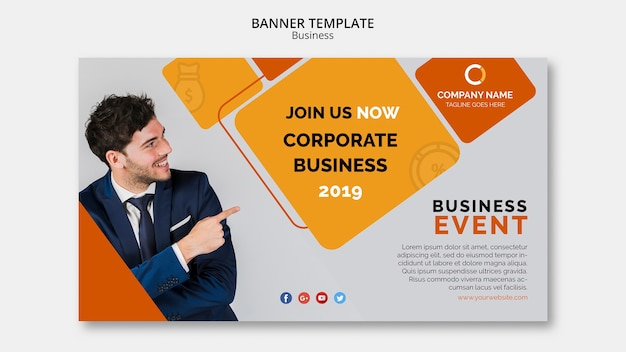 Business banner vorlage