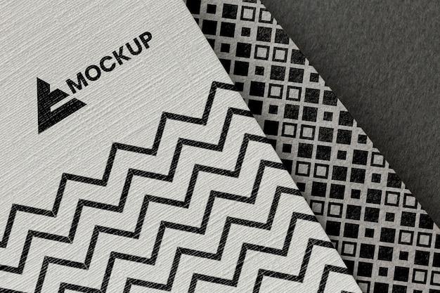 Business-branding auf karten-mock-up-zusammensetzung