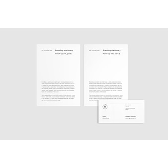 Business-broschüre verspotten