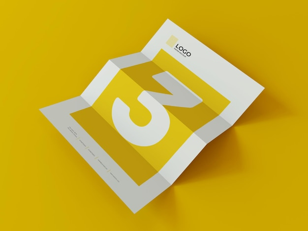 Business document paper mockup 3d-rendering