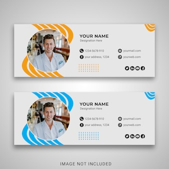 Business-e-mail-signaturvorlage