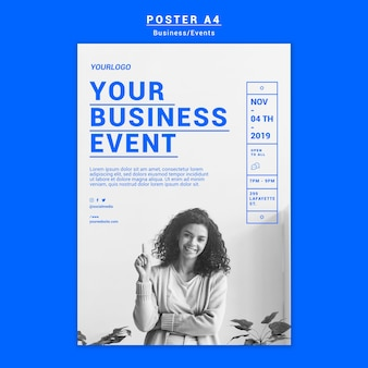 Business event plakat vorlage