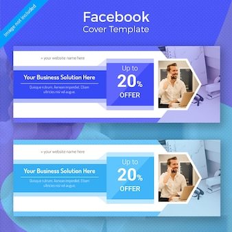 Business facebook cover template-design