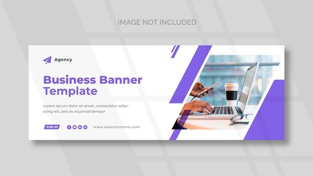 Business facebook cover und panorama banner vorlage