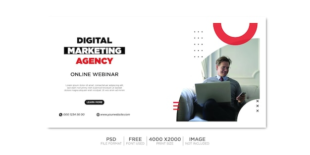 Business-facebook-cover und web-banner