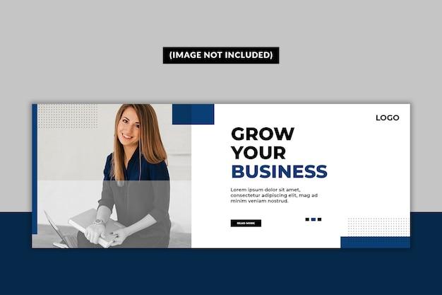 Business facebook deckblatt vorlage