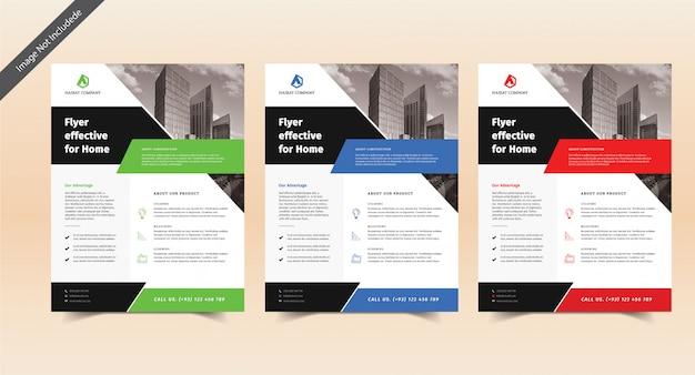 Business flyer festgelegt