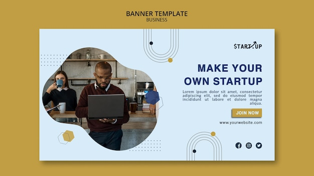 Business horizontale bannervorlage