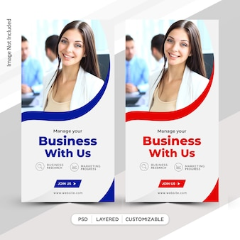 Business instagram geschichten post template-design