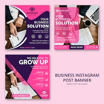 Business instagram post banner pack