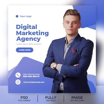 Business instagram post banner vorlage