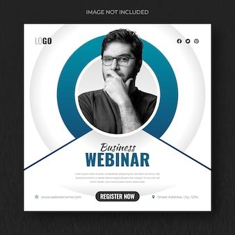 Business-konferenz-social-media-post und webinar-banner oder quadratische flyer-design-vorlage
