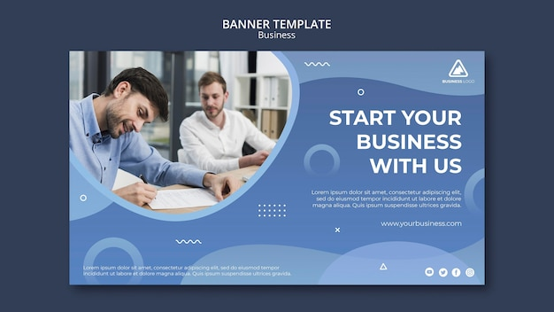 Business-konzept-banner-design