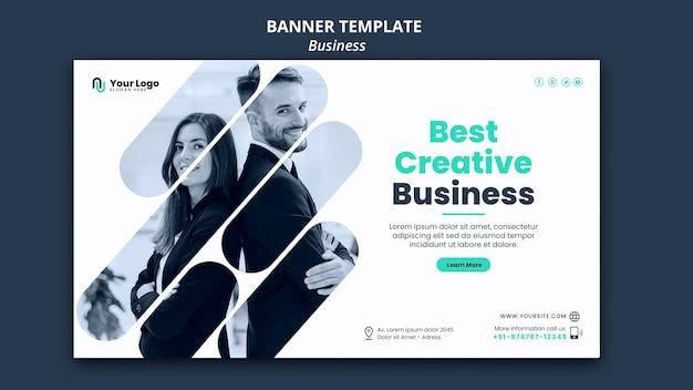 Business-konzept-banner-vorlage