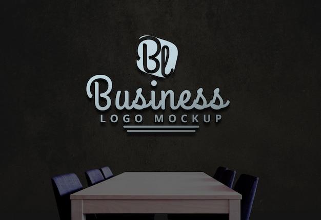 Business logo mockup psd-logo-modell