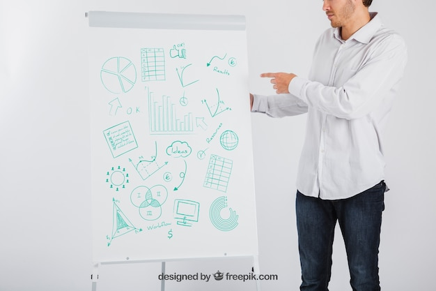 Business-präsentation konzept