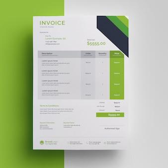 Business professional rechnungsvorlage