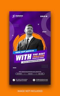 Business promotion instagram story und corporate social media banner vorlage kostenlos psd