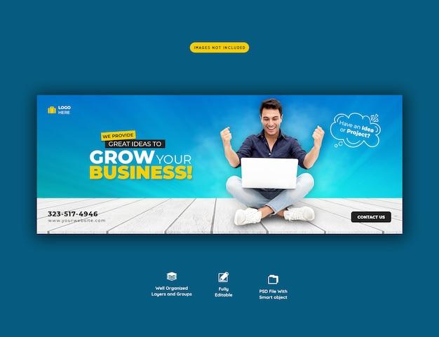 Business promotion und corporate facebook cover vorlage