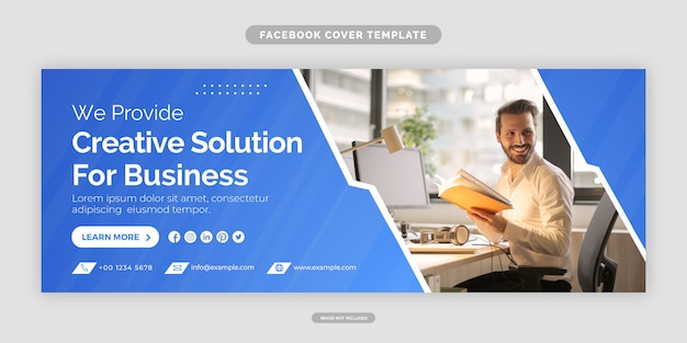 Business promotion und corporate facebook cover-vorlage