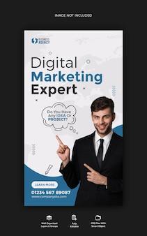 Business promotion und corporate instagram story post banner vorlage