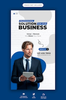 Business promotion und corporate instagram story vorlage