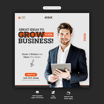 Business promotion und corporate social media banner vorlage