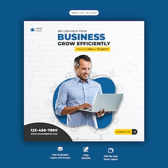 Business promotion und corporate social media banner vorlage
