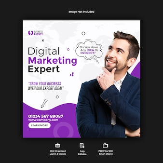 Business promotion und corporate social media banner vorlage Premium PSD