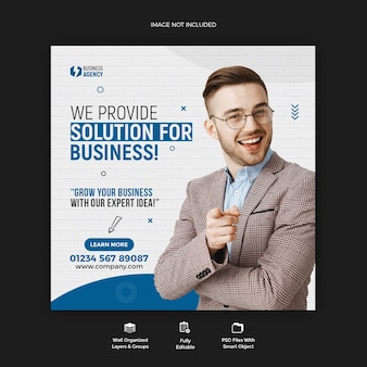 Business promotion und corporate social media post banner vorlage