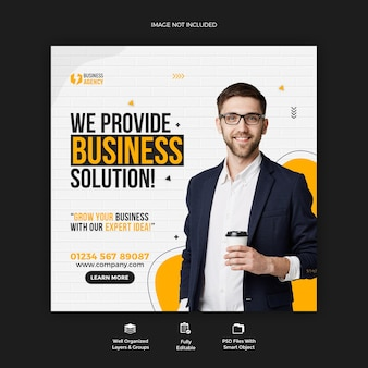 Business promotion und corporate social media post banner vorlage