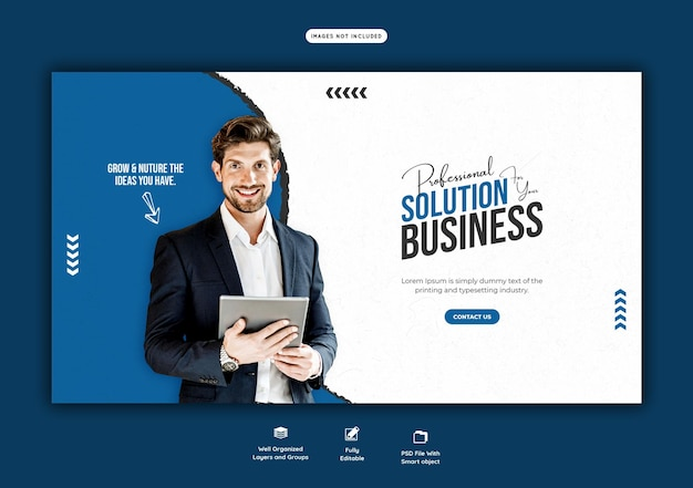 Business promotion und corporate web banner vorlage