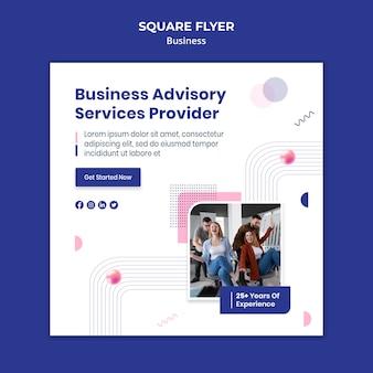 Business-quadrat-flyer-vorlage mit foto