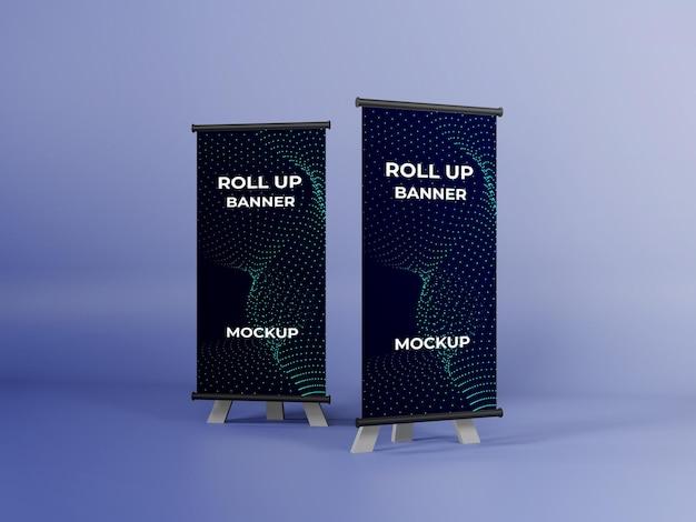 Business roll-up banner mockup design psd